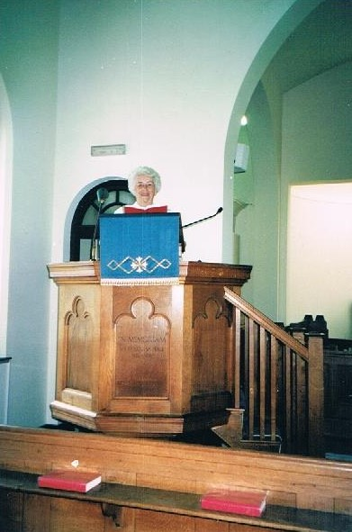 Nancy Boardman taking the service in 2003
